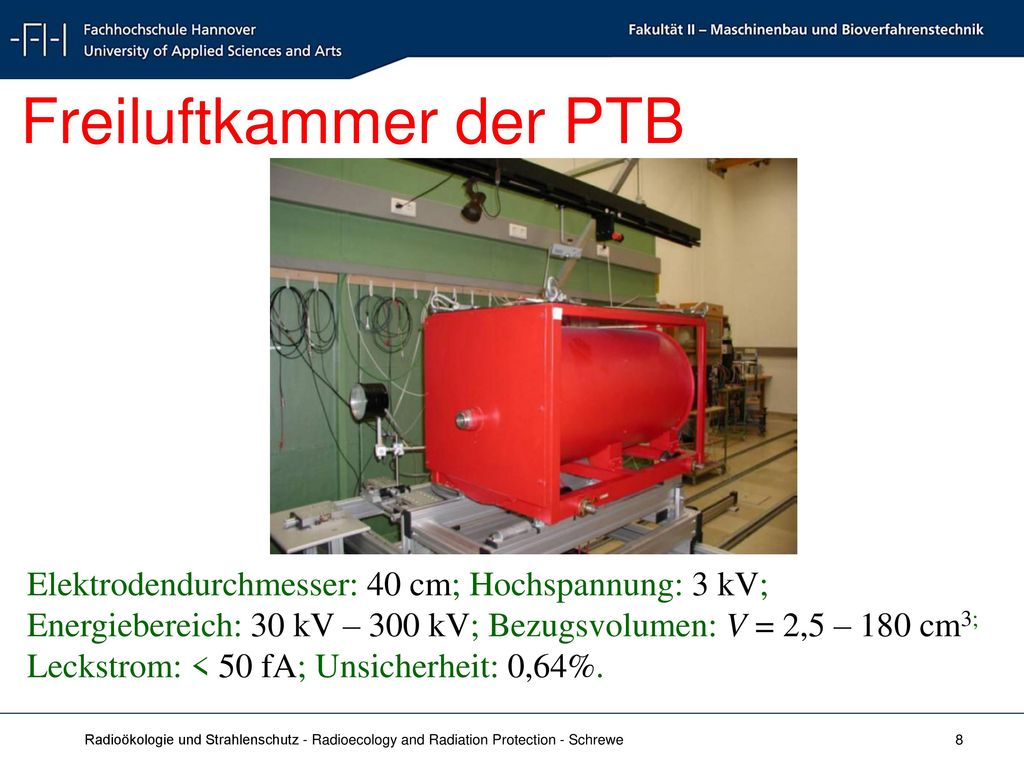 Freiluftkammer der PTB