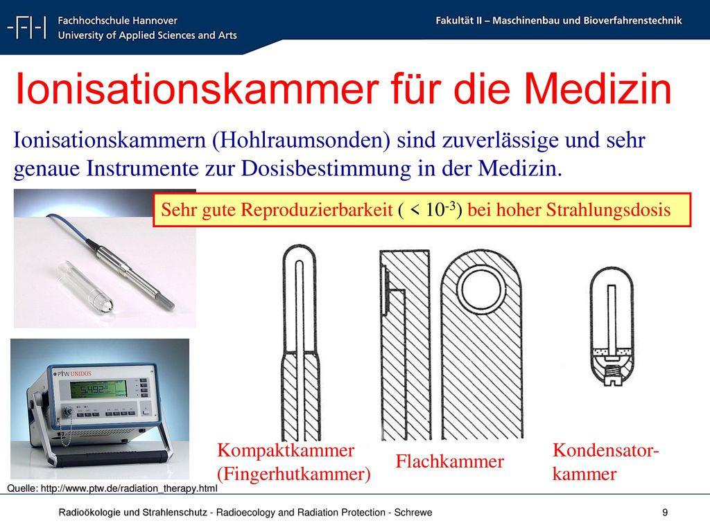 Ionisationskammer für die Medizin