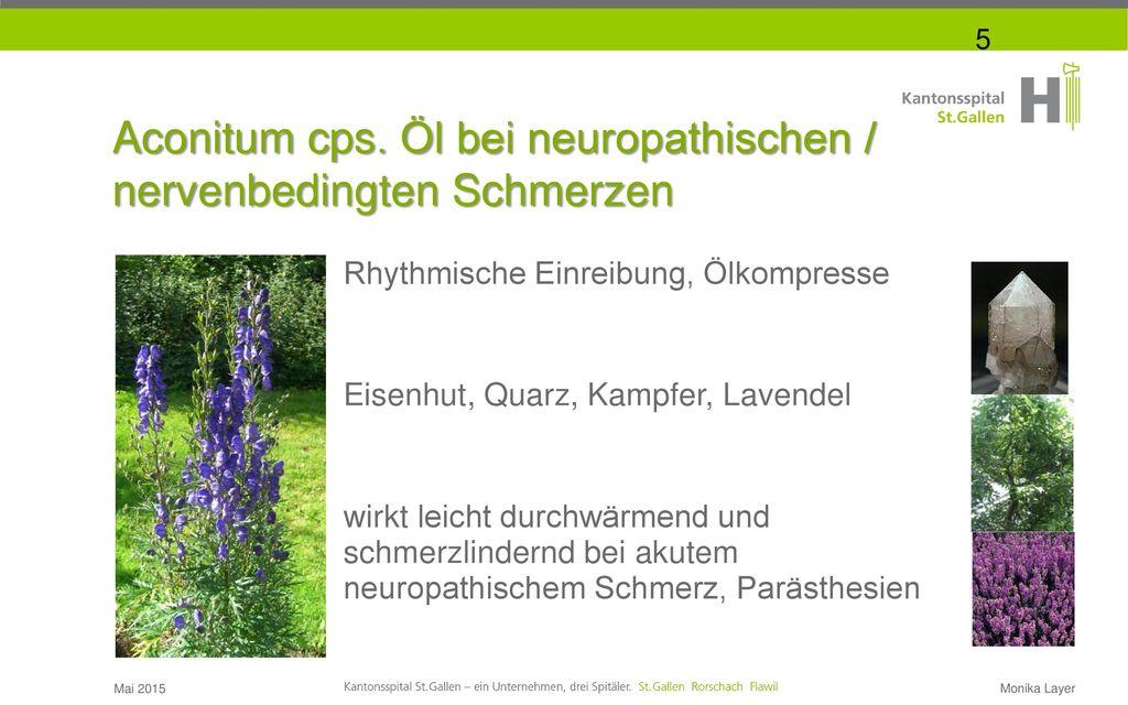 Aconitum cps. Öl bei neuropathischen /