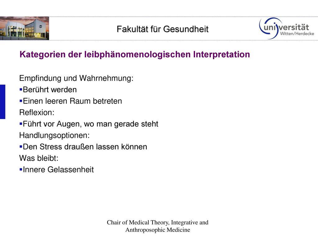 Kategorien der leibphänomenologischen Interpretation