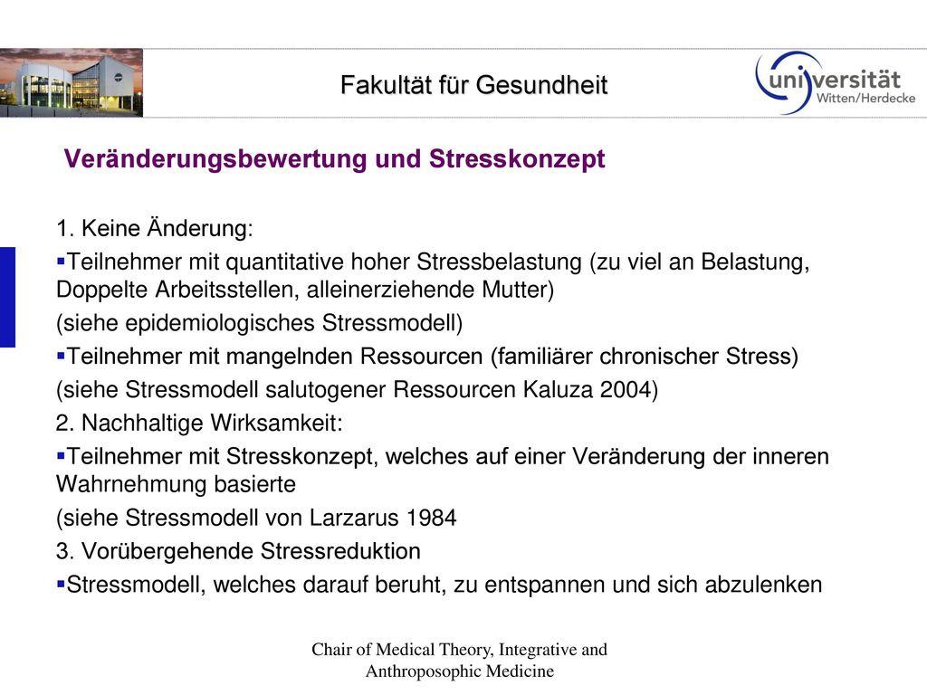 Veränderungsbewertung und Stresskonzept