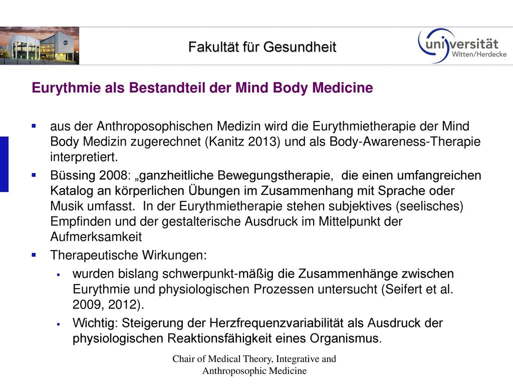 Eurythmie als Bestandteil der Mind Body Medicine