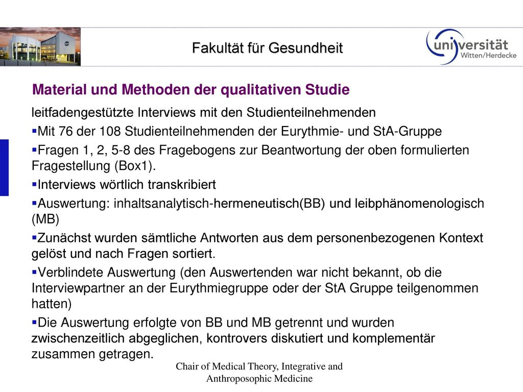 Material und Methoden der qualitativen Studie