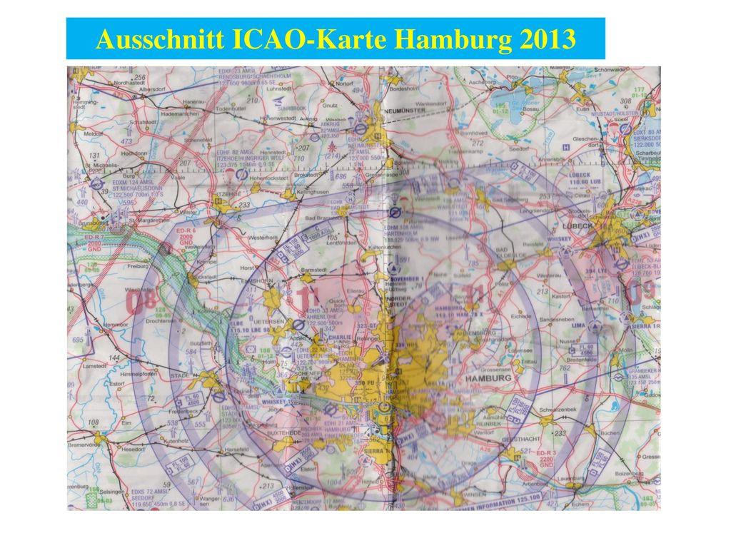 Ausschnitt ICAO-Karte Hamburg 2013