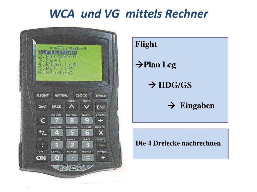 WCA und VG mittels Rechner