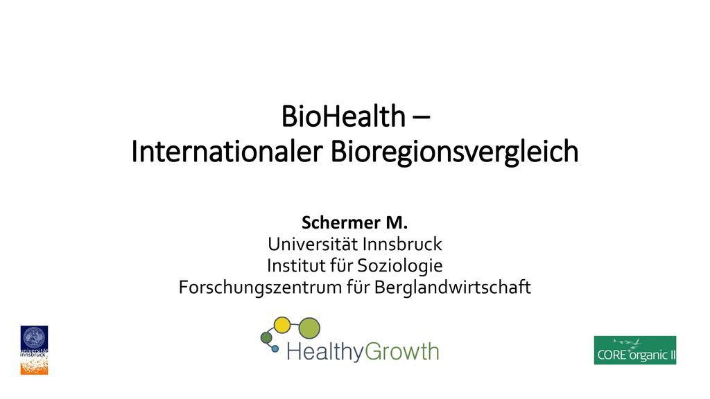 BioHealth – Internationaler Bioregionsvergleich
