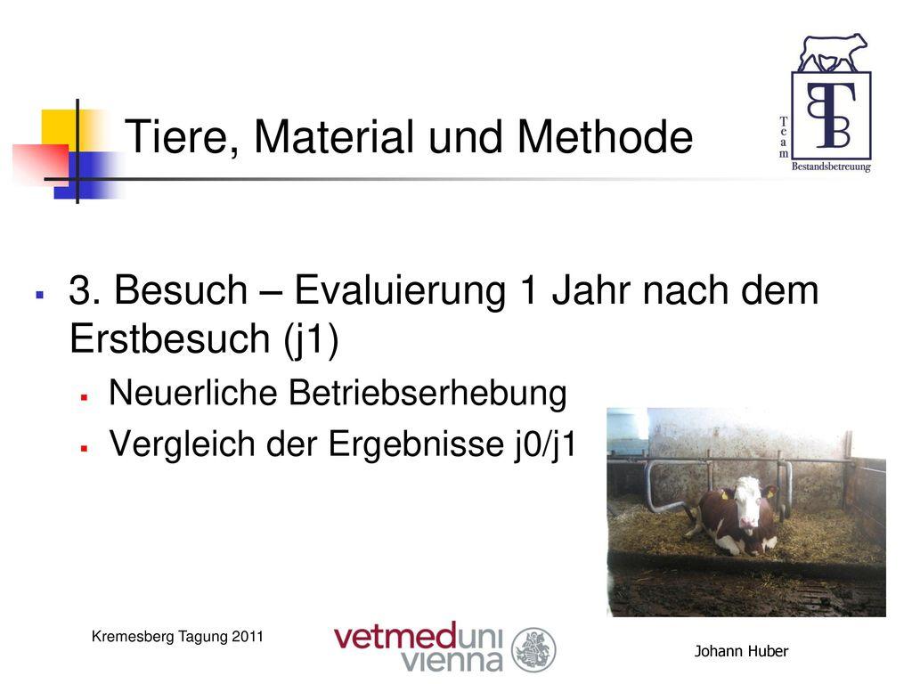 Tiere, Material und Methode