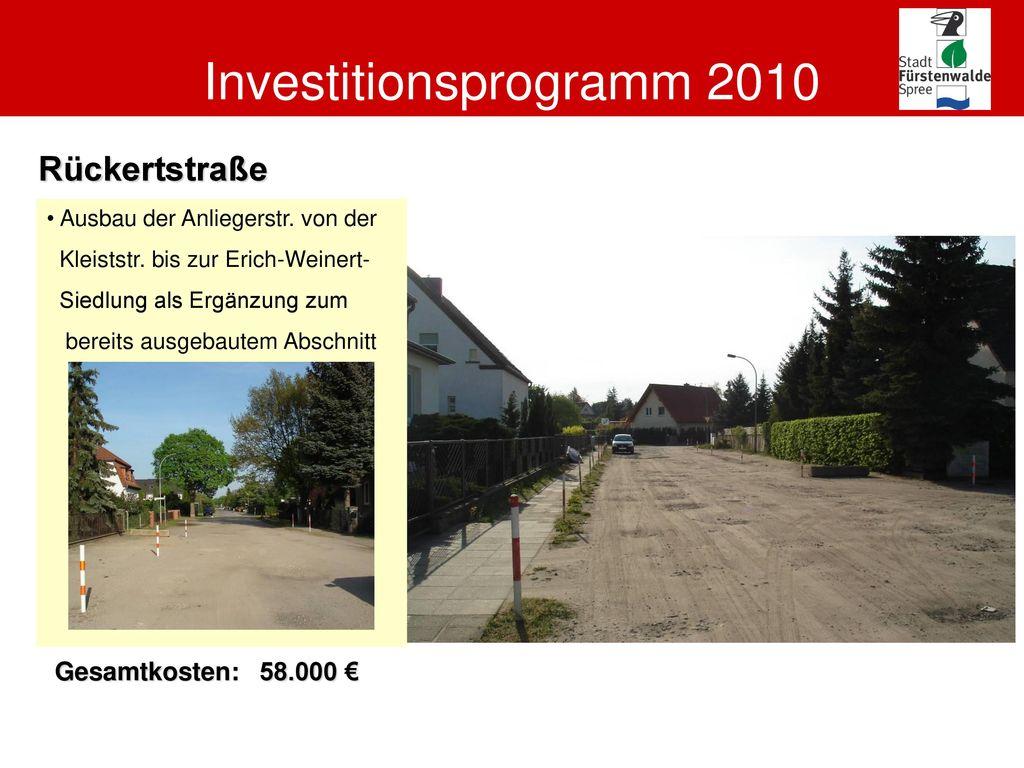 Investitionsprogramm 2010