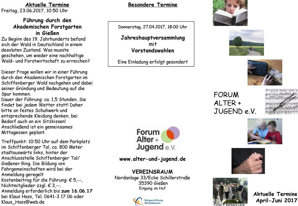Akademischen Forstgarten Jahreshauptversammlung