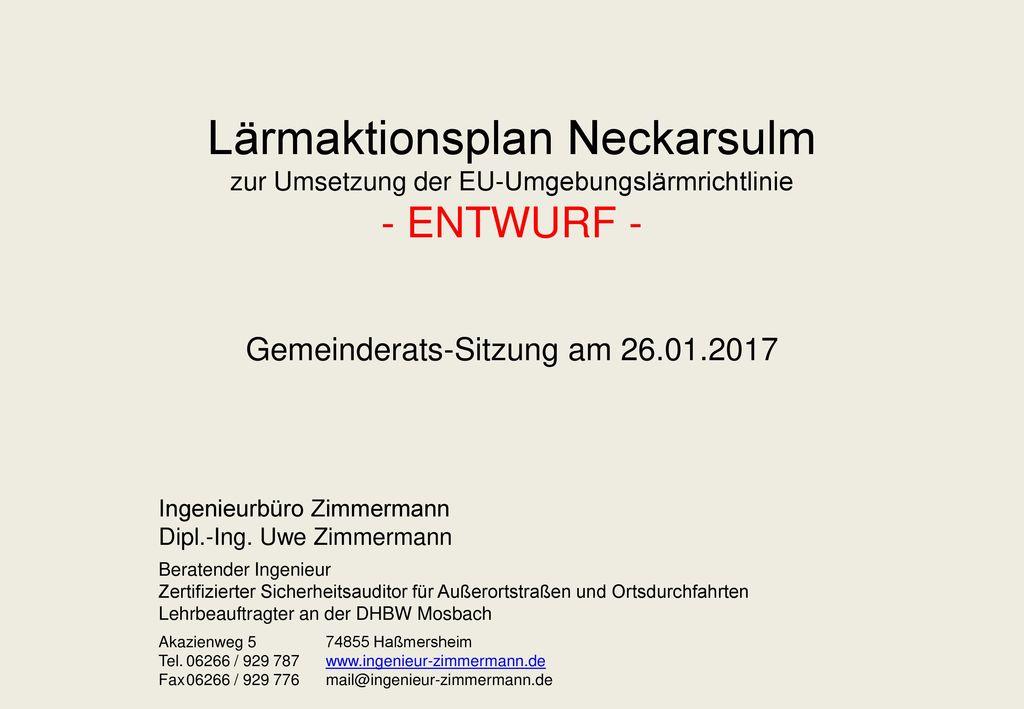 Gemeinderats-Sitzung am 26.01.2017