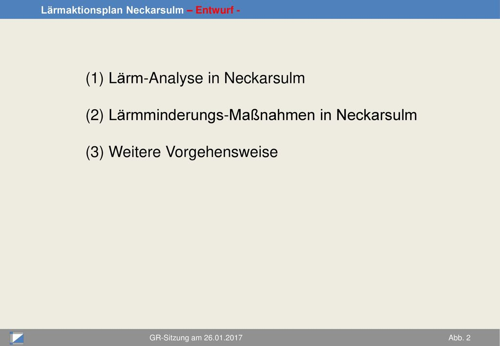 Lärm-Analyse in Neckarsulm