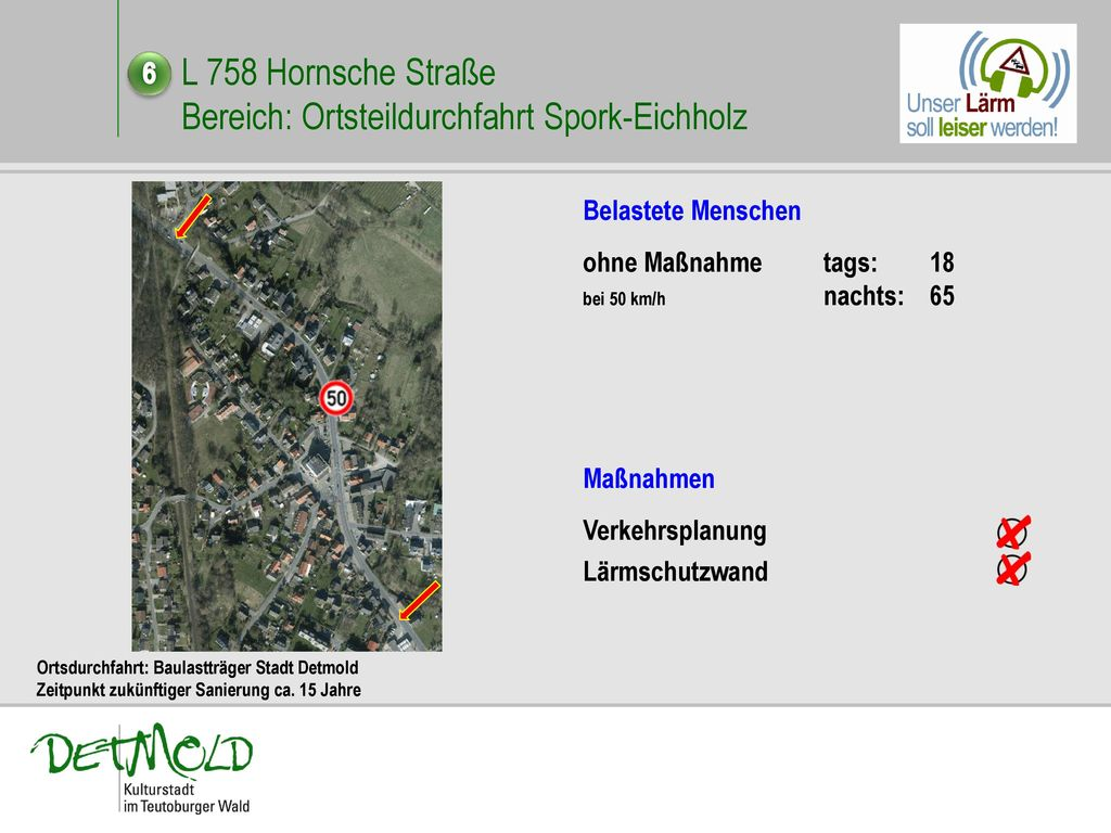 L 758 Hornsche Straße Bereich: Ortsteildurchfahrt Spork-Eichholz
