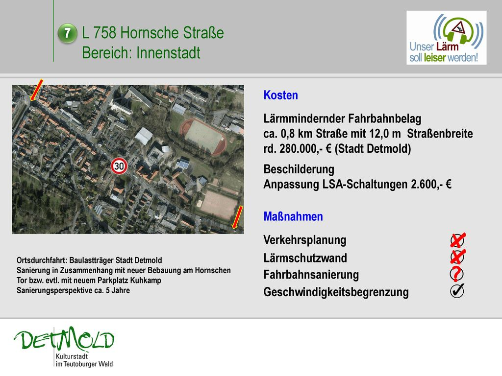 L 758 Hornsche Straße Bereich: Innenstadt