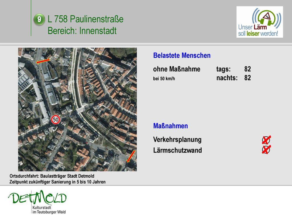 L 758 Paulinenstraße Bereich: Innenstadt