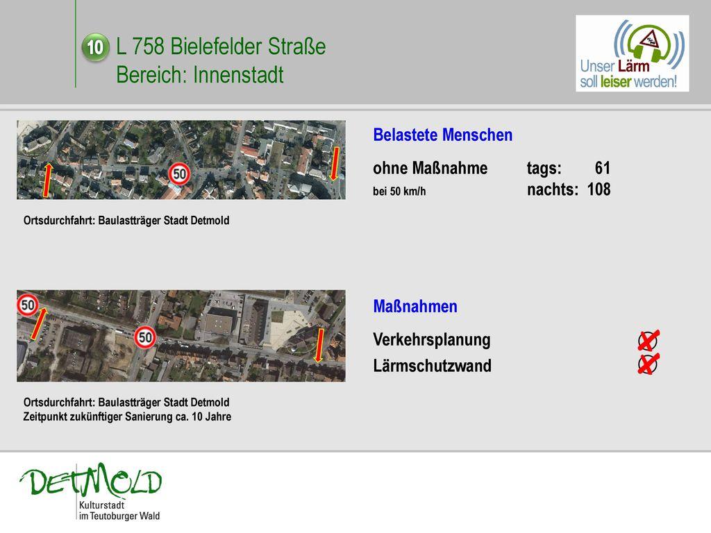 L 758 Bielefelder Straße Bereich: Innenstadt