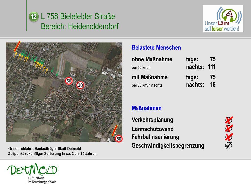 L 758 Bielefelder Straße Bereich: Heidenoldendorf