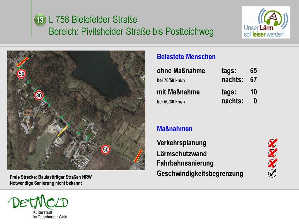 L 758 Bielefelder Straße Bereich: Pivitsheider Straße bis Postteichweg