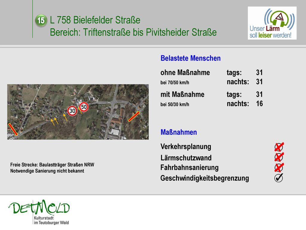 L 758 Bielefelder Straße Bereich: Triftenstraße bis Pivitsheider Straße