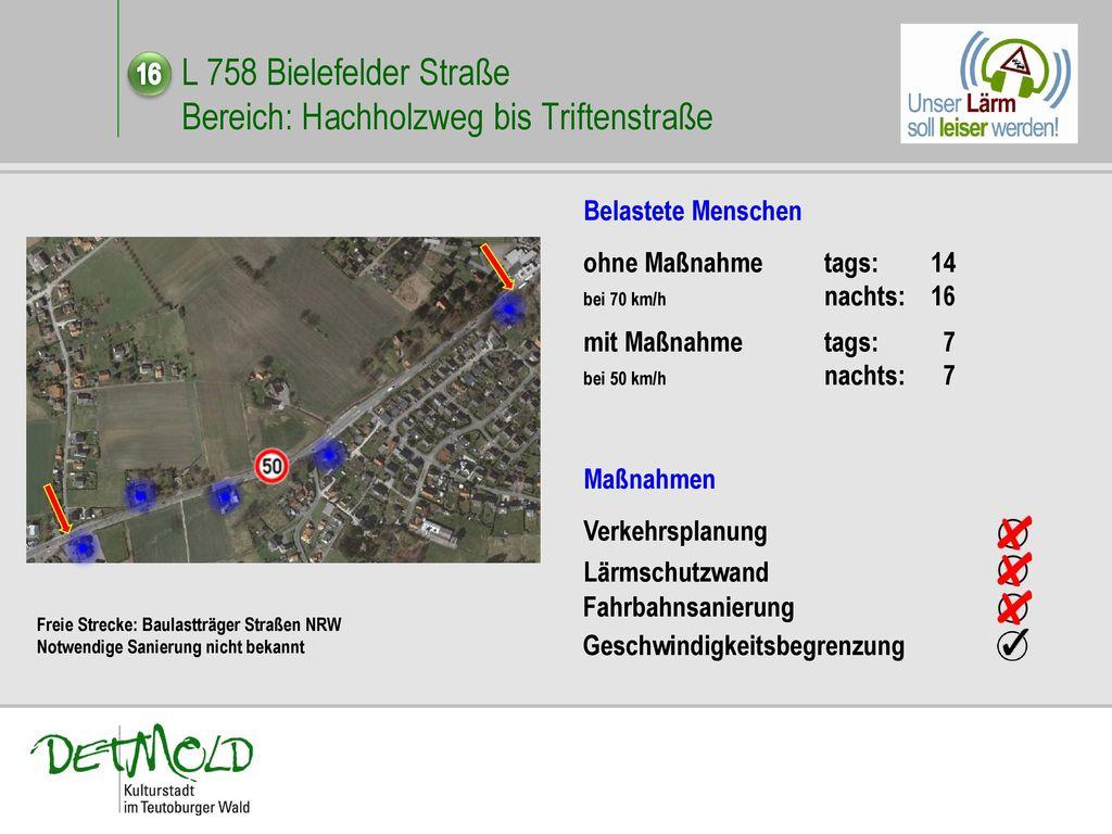 L 758 Bielefelder Straße Bereich: Hachholzweg bis Triftenstraße