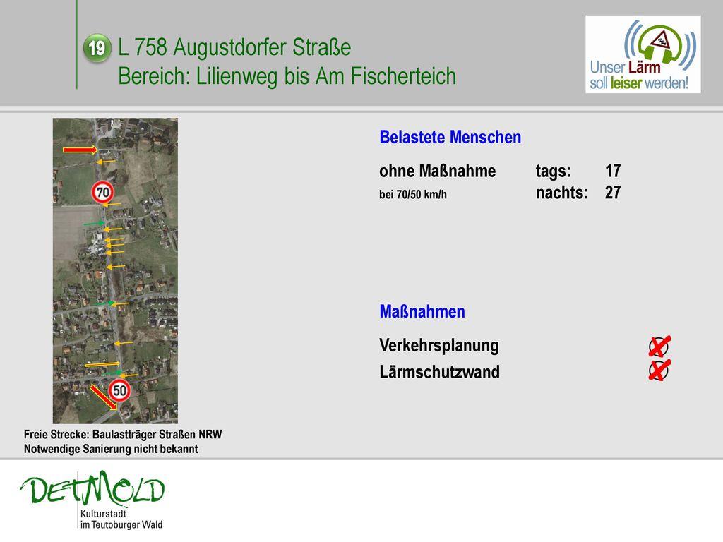 L 758 Augustdorfer Straße Bereich: Lilienweg bis Am Fischerteich