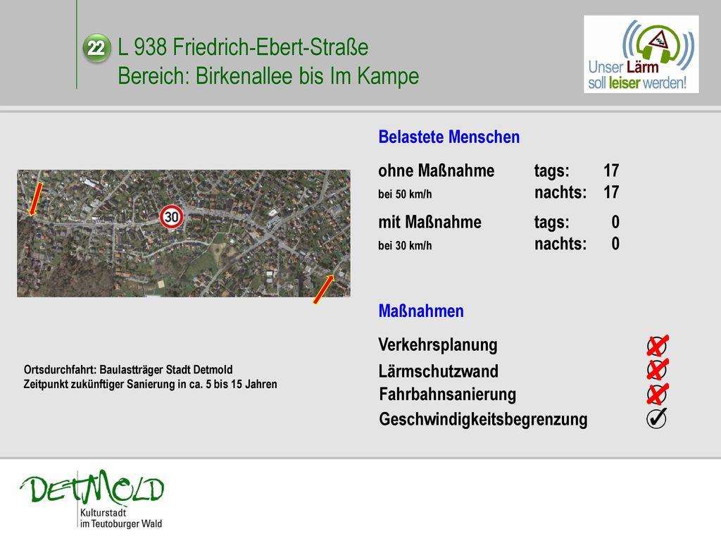 L 938 Friedrich-Ebert-Straße Bereich: Birkenallee bis Im Kampe
