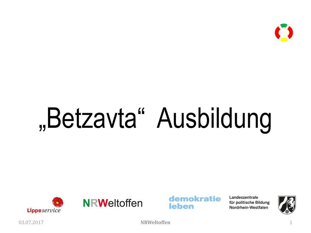 """""""Betzavta Ausbildung"""