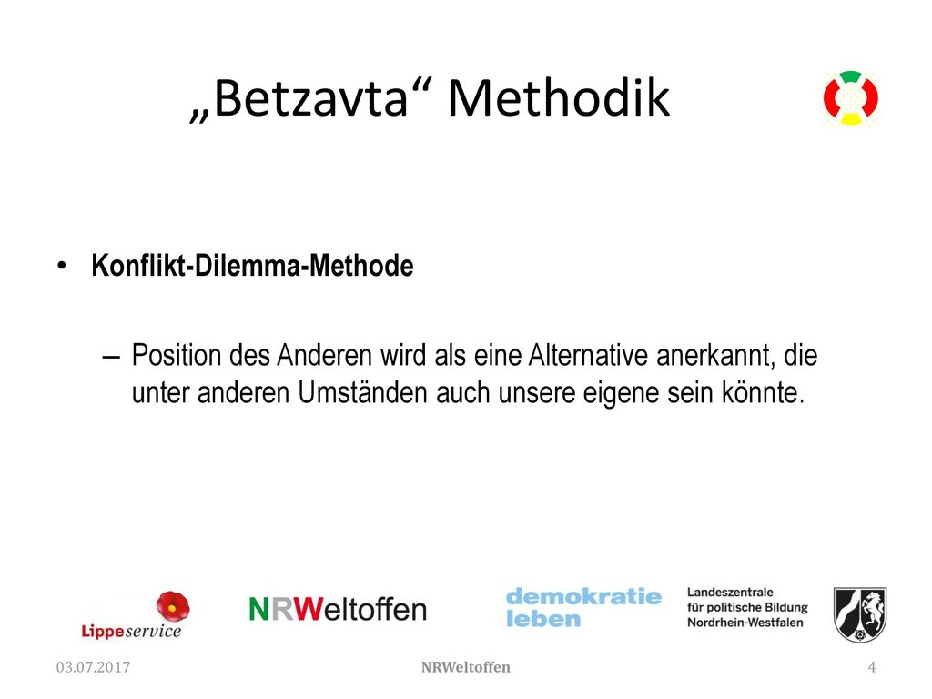 """Betzavta Methodik Konflikt-Dilemma-Methode"