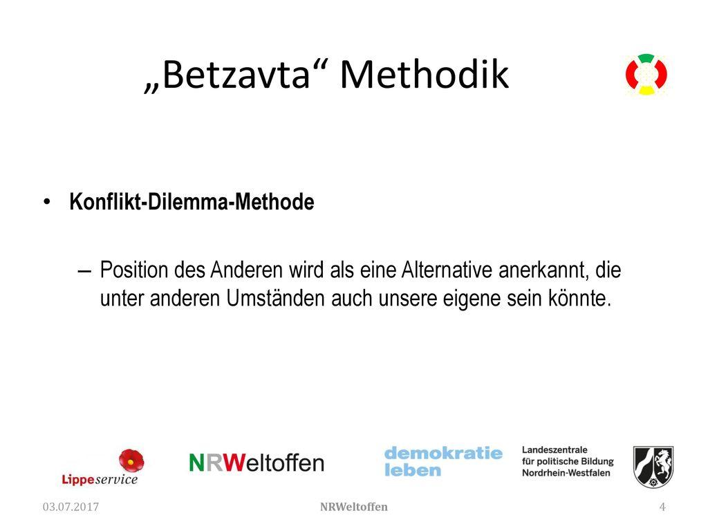 """""""Betzavta Methodik Konflikt-Dilemma-Methode"""