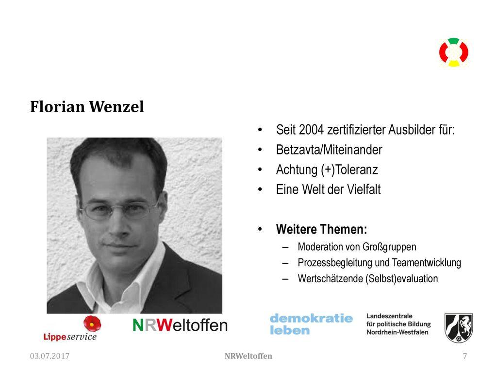 Florian Wenzel Seit 2004 zertifizierter Ausbilder für: