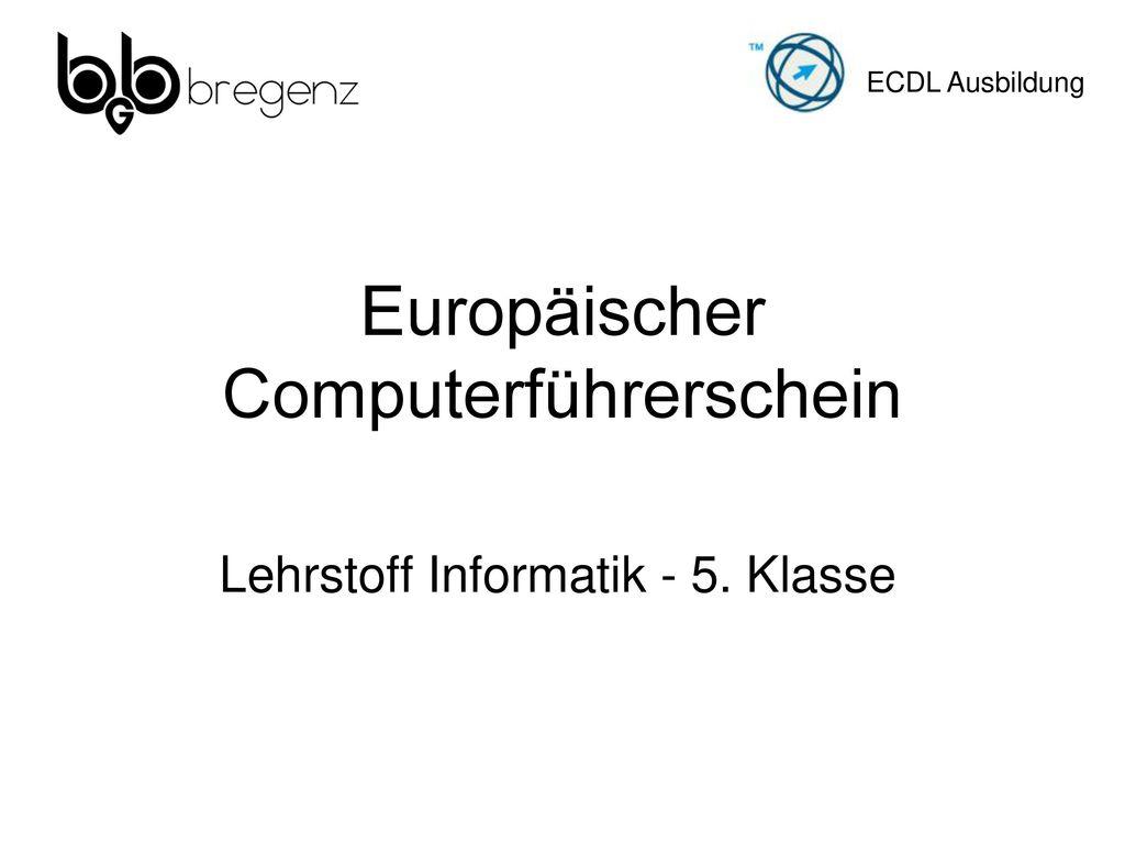 Europäischer Computerführerschein