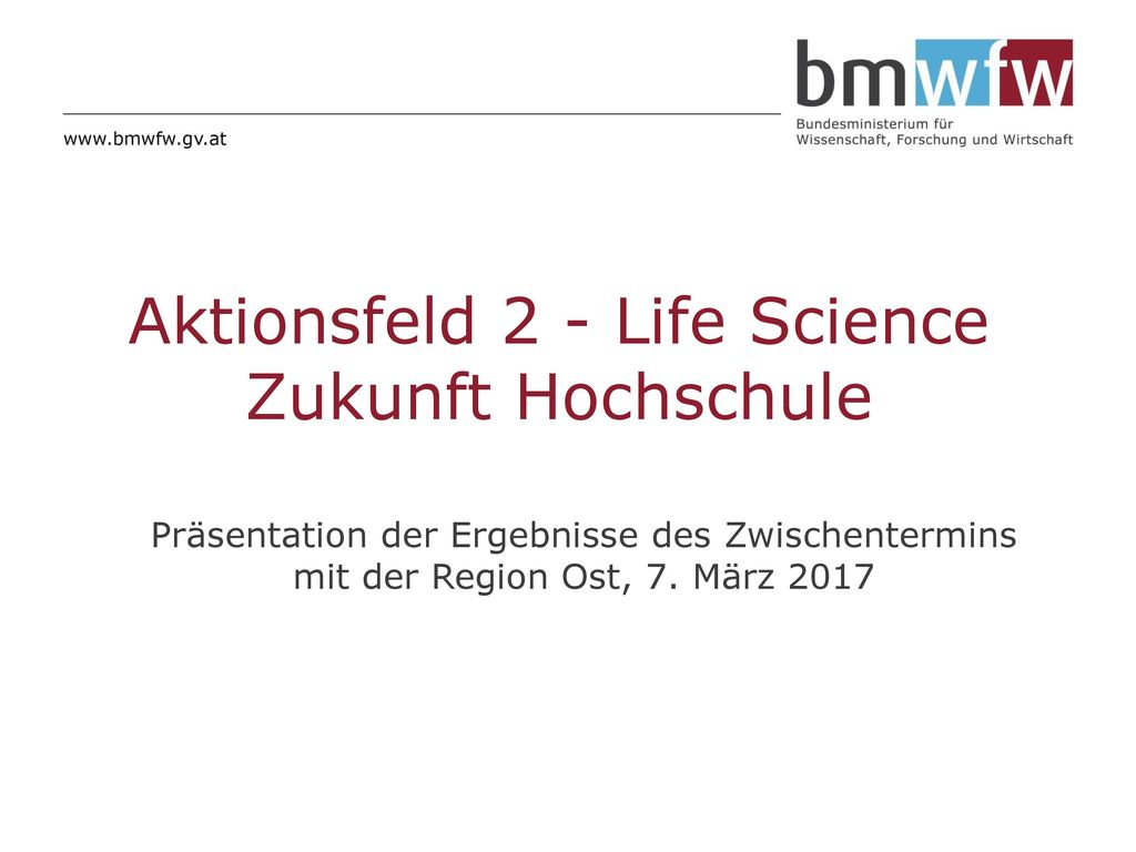 Aktionsfeld 2 - Life Science Zukunft Hochschule