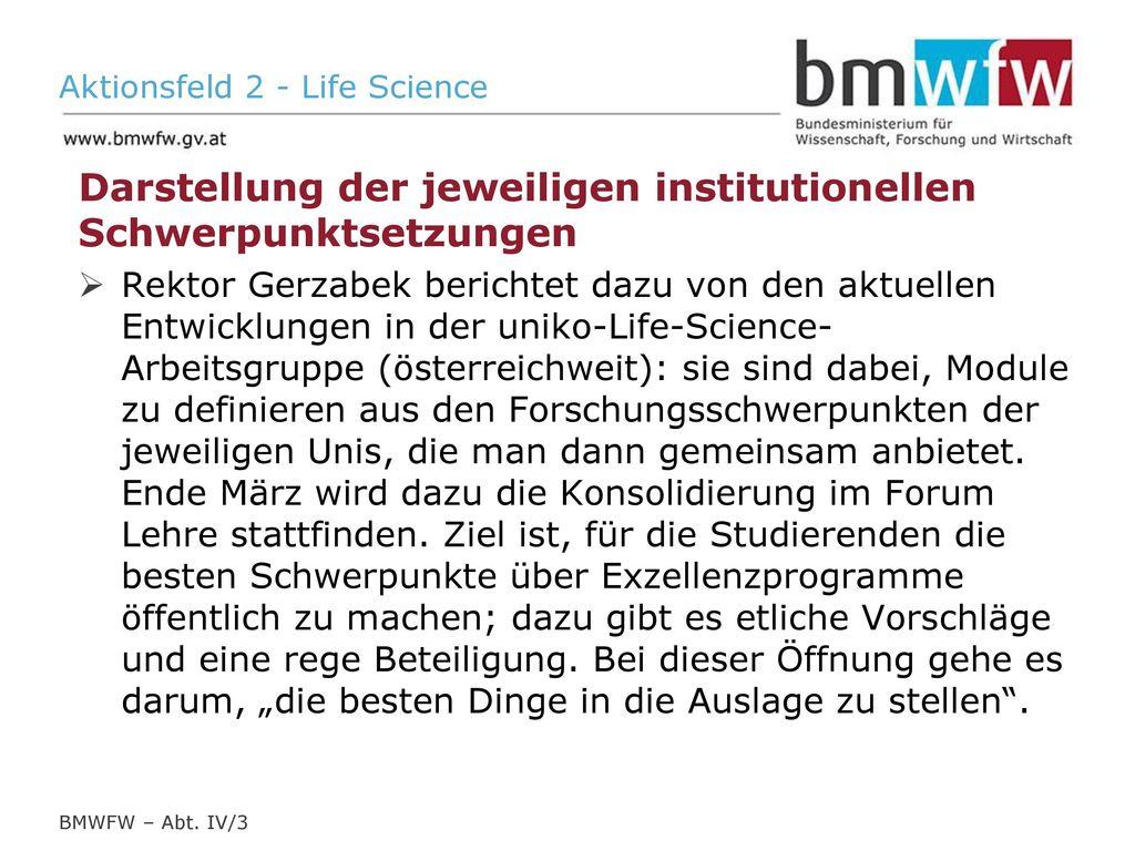 Aktionsfeld 2 - Life Science