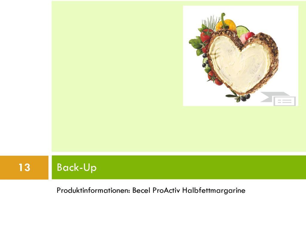 Back-Up Produktinformationen: Becel ProActiv Halbfettmargarine