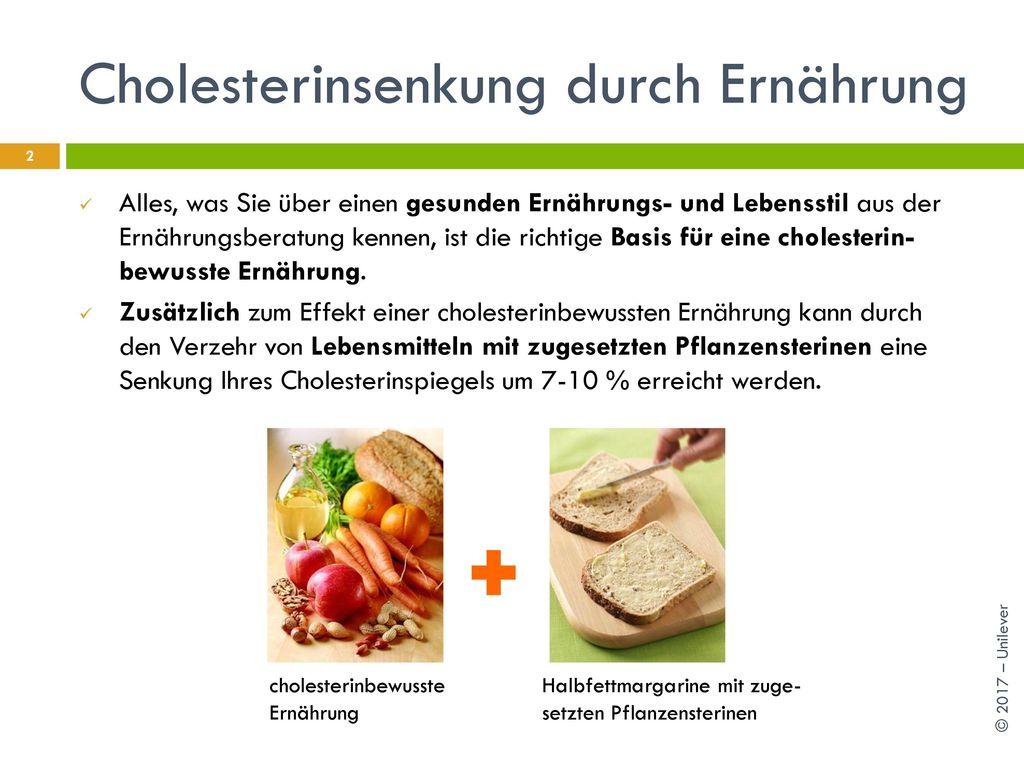 Cholesterinsenkung durch Ernährung