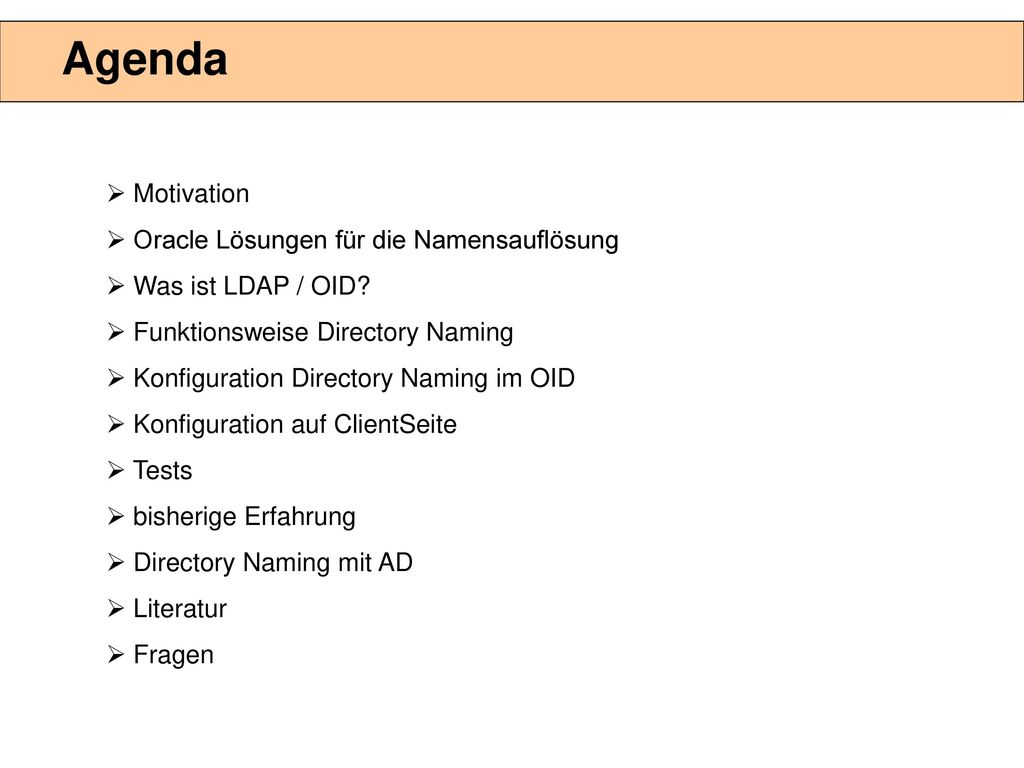 TNS-Resolution mit LDAP