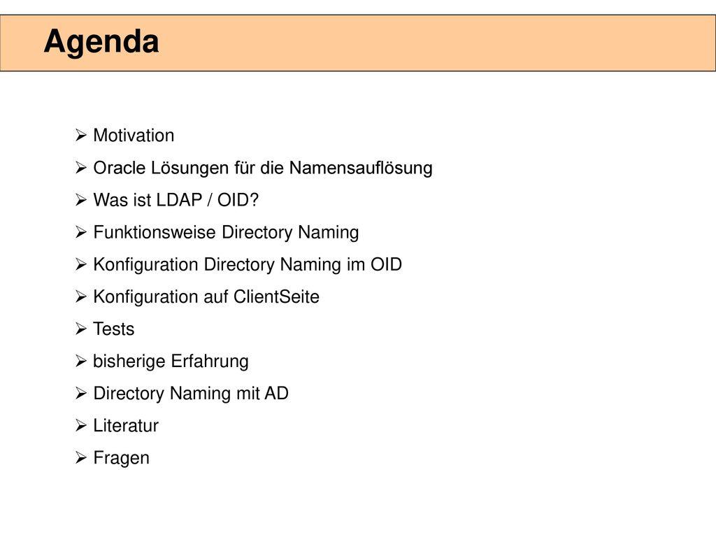 TNS-Resolution mit LDAP