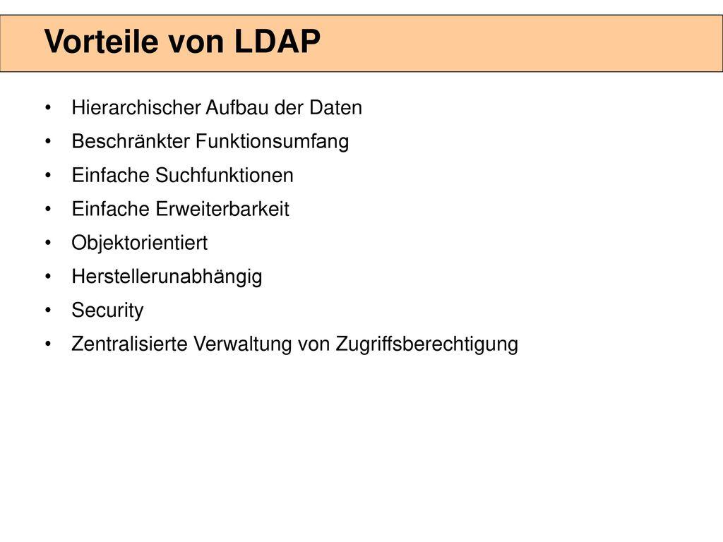 Was ist das LDAP / OID Lightweight Directory Access Protocoll