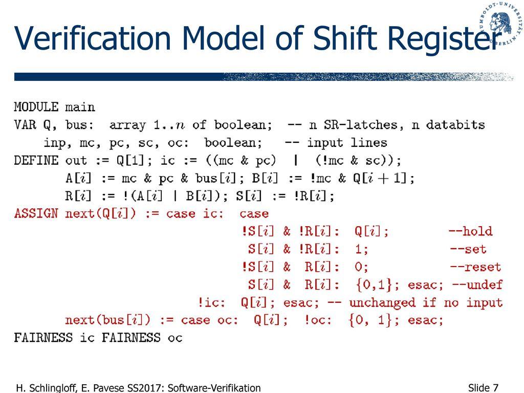 Verification Model of Shift Register