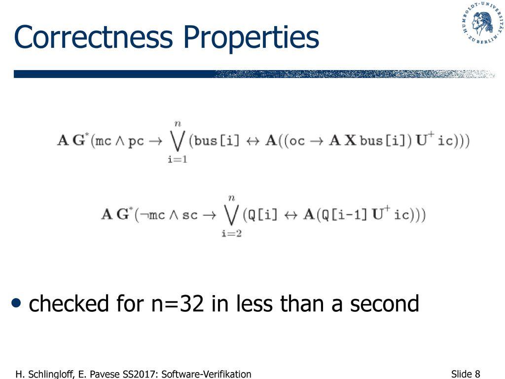Correctness Properties