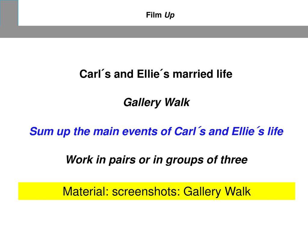Material: screenshots: Gallery Walk