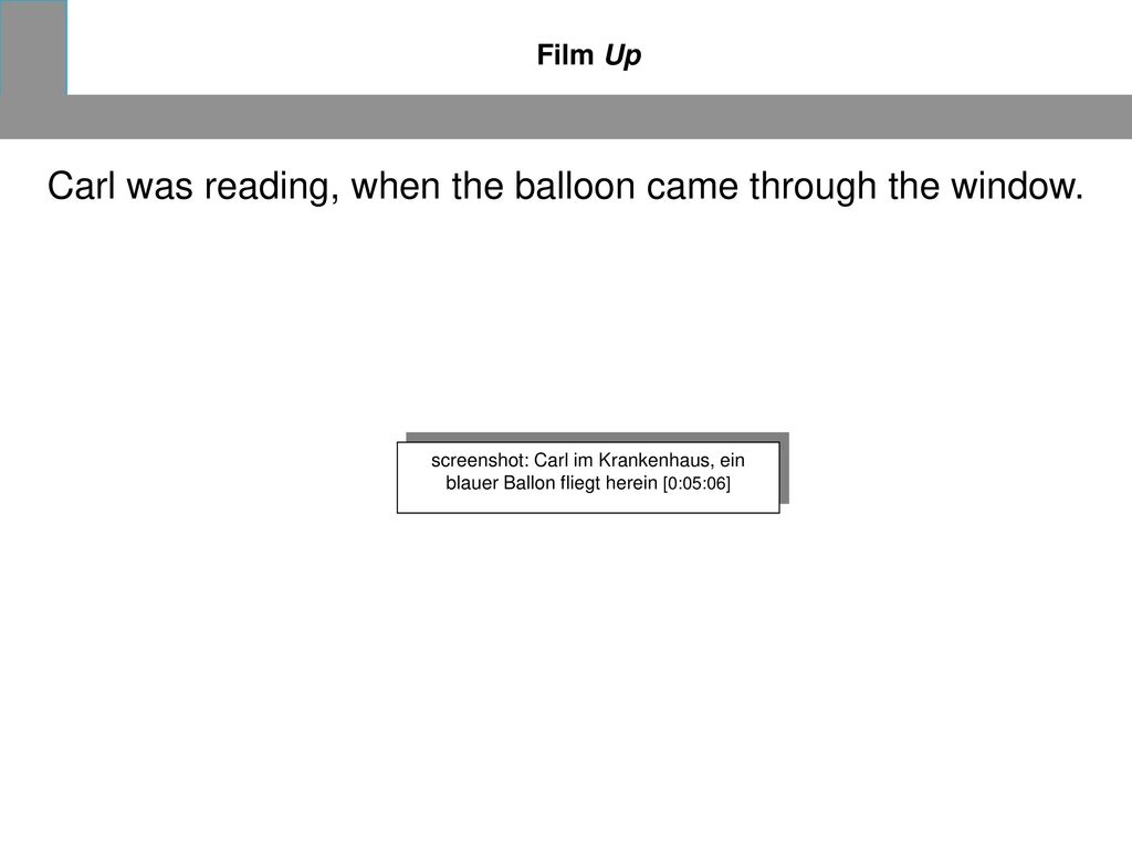 Carl was reading, when the balloon came through the window.