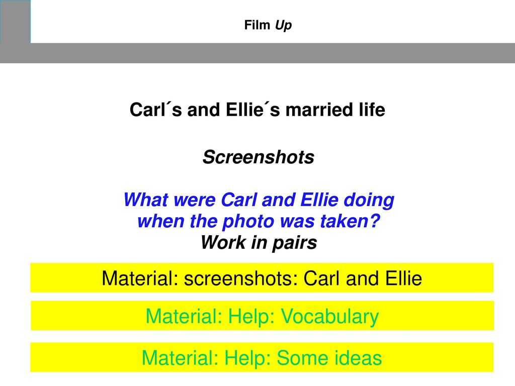 Material: screenshots: Carl and Ellie