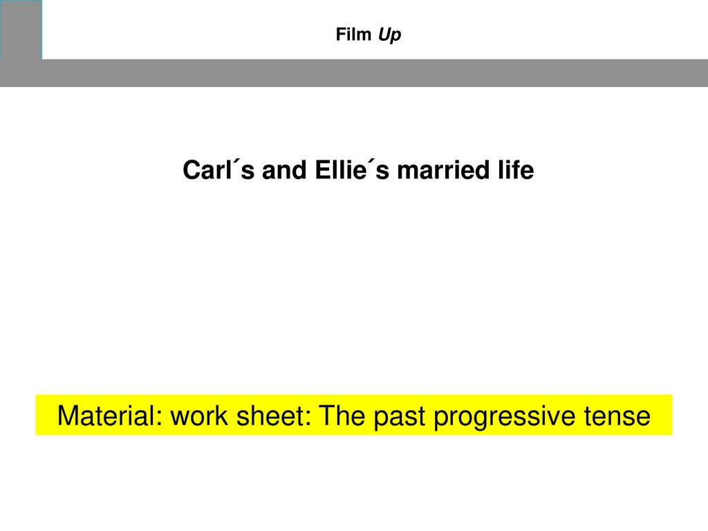 Carl´s and Ellie´s married life