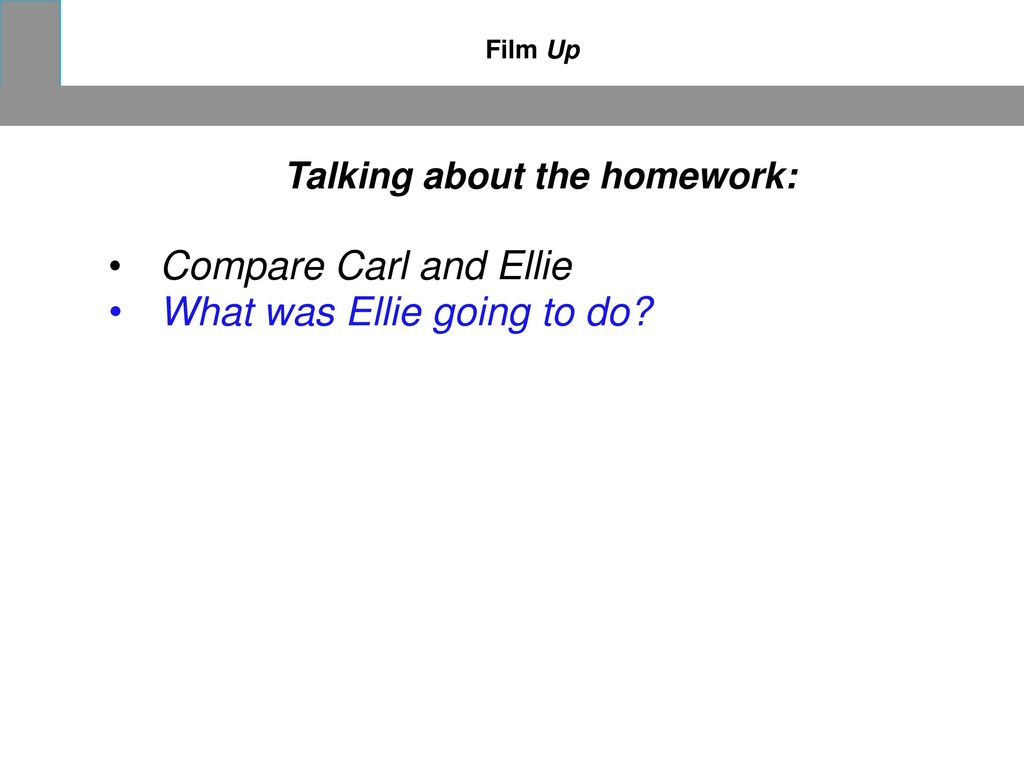 Talking about the homework: