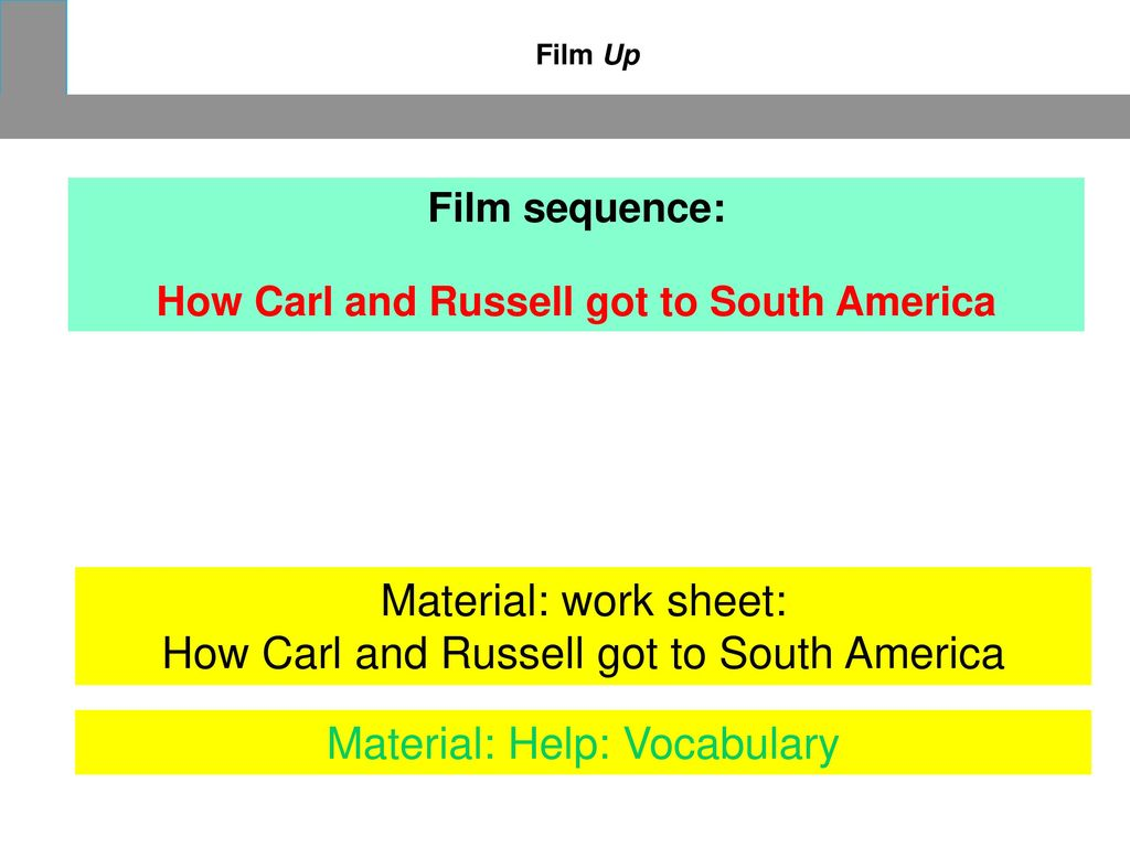 How Carl and Russell got to South America