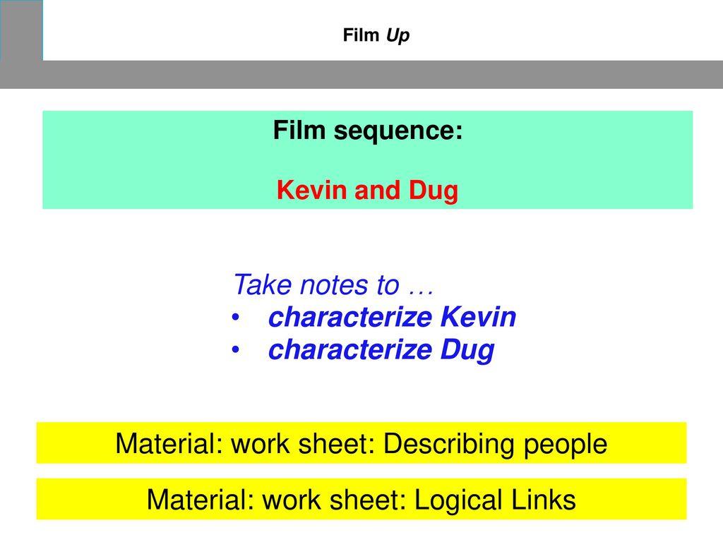 Material: work sheet: Describing people