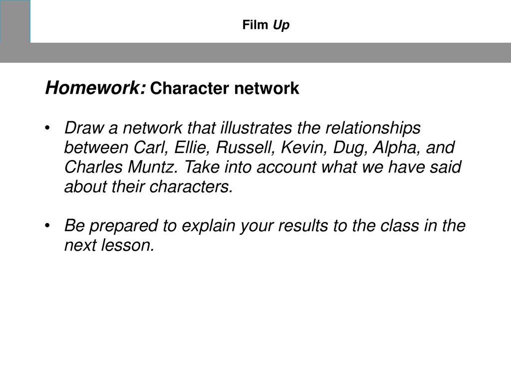 Homework: Character network