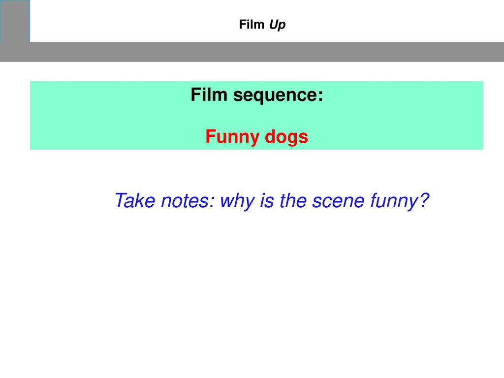 Take notes: why is the scene funny