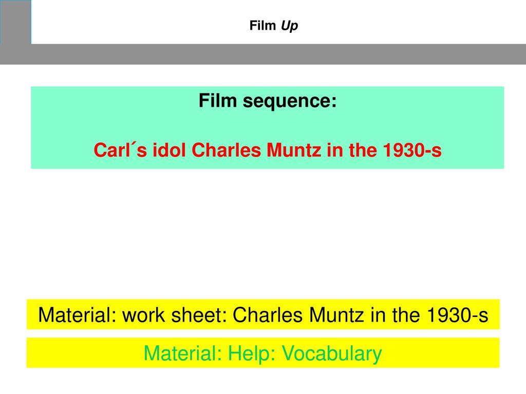Carl´s idol Charles Muntz in the 1930-s