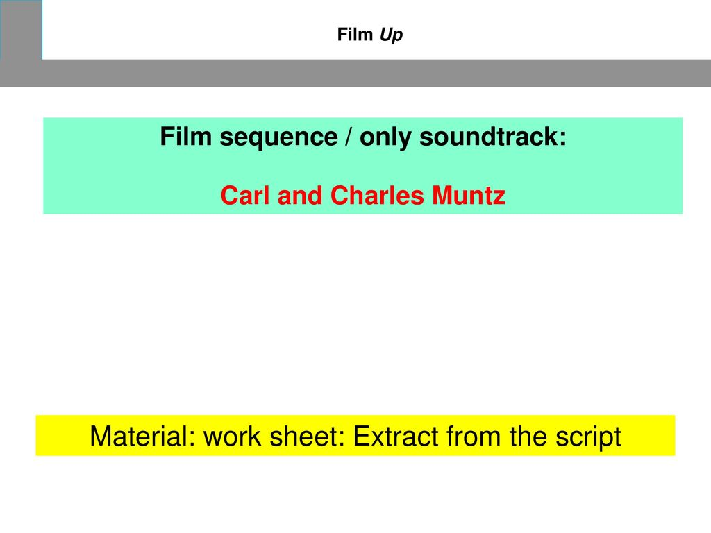 Film sequence / only soundtrack: